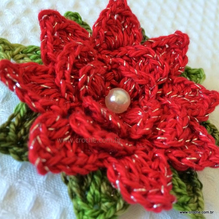 Garland flower step by step | Croche.com.br