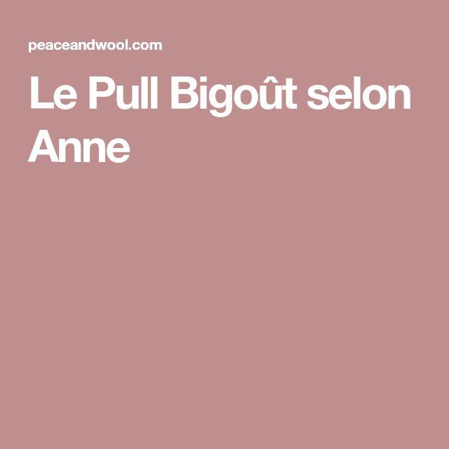 Le Pull Bigoût selon Anne