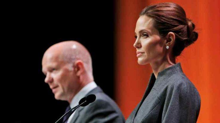 Angelina Jolie und William Hague