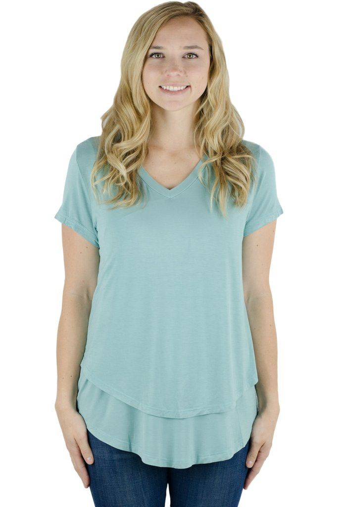 7f14cd63a713 Latched Mama V-neck Nursing Tee 2.0