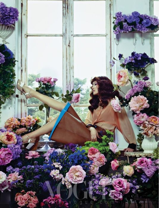 Flower Shop Girl. Flower House, Vogue Korea March 2013