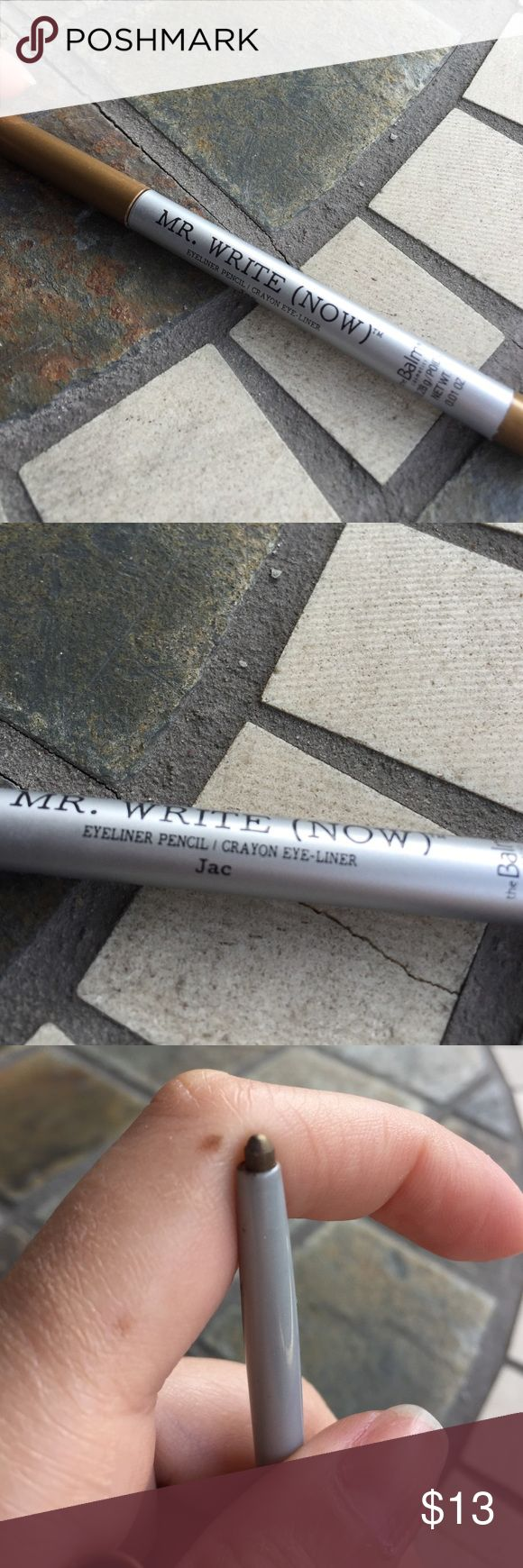 The balm mr write now eyeliner pencil! In shade Jac which is like a bronze shade. The Balm Makeup Eyeliner