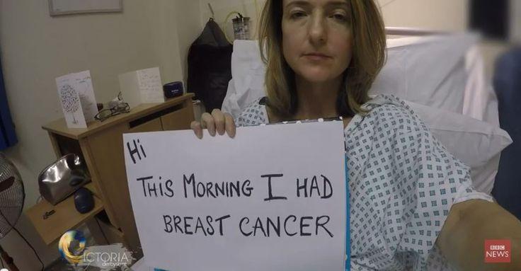 Victoria Derbyshire,présentatrice sur la BBC a fait un journal vidéo pour parler de sa mastectomie