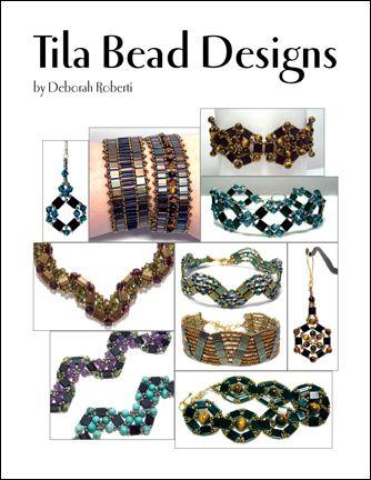 91 best beading books images on pinterest bead jewelry bead tila bead designs e book pattern by deborah roberti fandeluxe Images