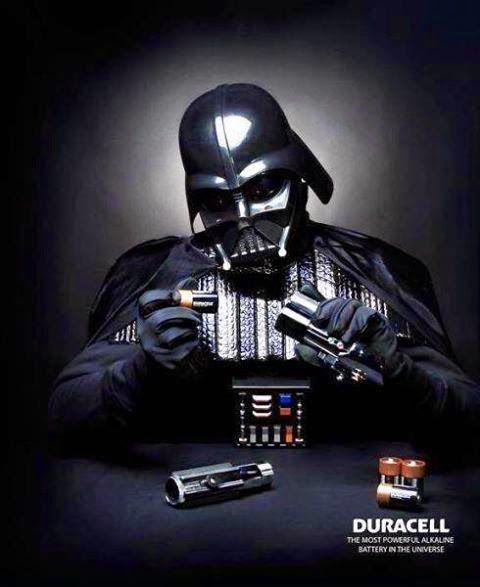 Lightsaber de Darth Vader   Duracell #MarketingdeGuerrilla