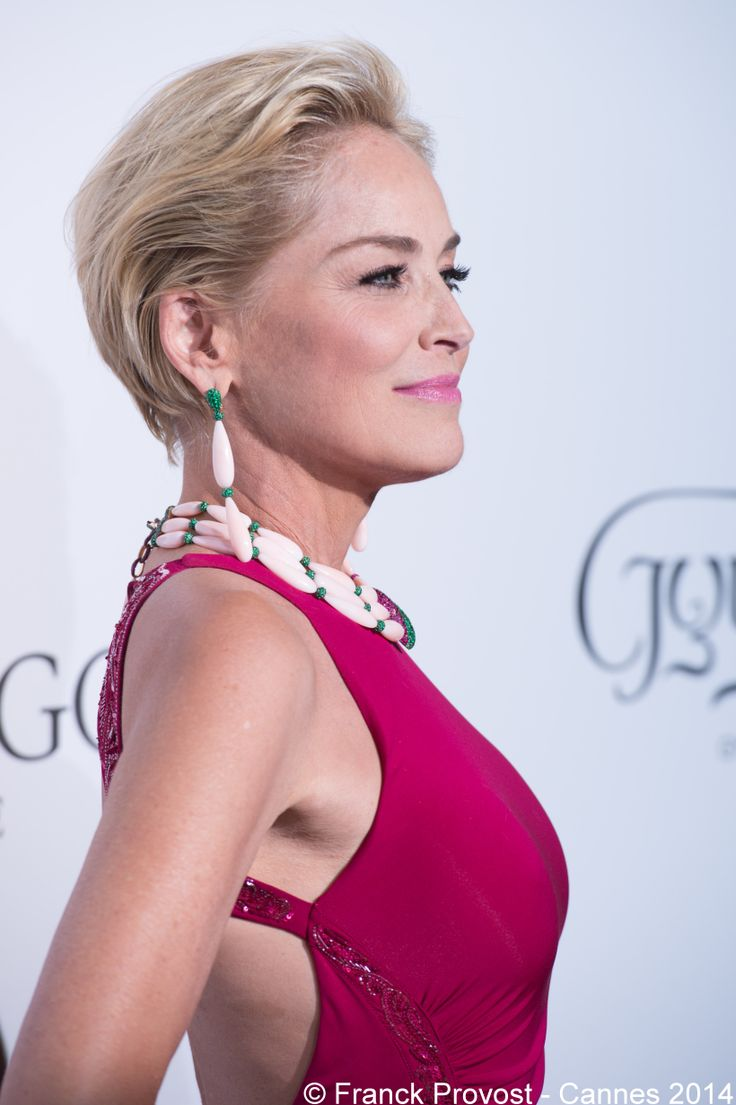 Coiffures Festivals And Sharon Stone On Pinterest