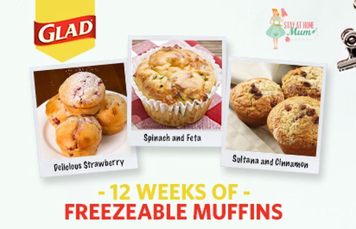 12 Weeks of Freezable Muffins with GLAD | Stay at Home Mum *definitely going on the list of things to do next school holidays!*