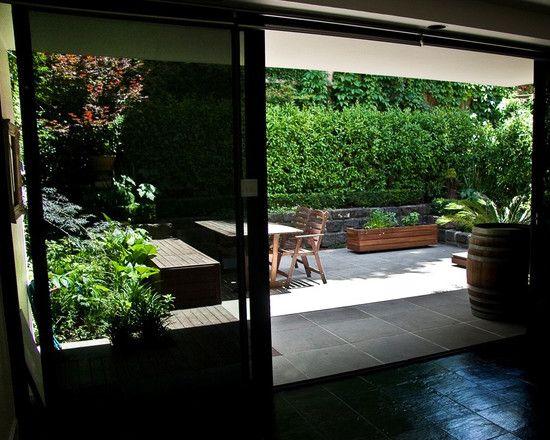 Splendid Bluestone Garden Edging: Terrific Eclectic Patio Bluestone Garden Edging With Yellow Box Decking  And Provides Good Texture And Age To The Courtyard ~ frashii.com Garden Inspiration