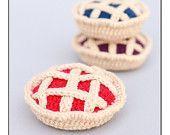 Crochet Food Cherry Pie