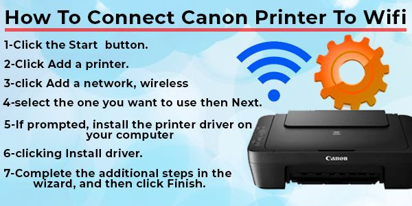 How To Connect Canon Printer To Witi Printer Printer Driver Connection