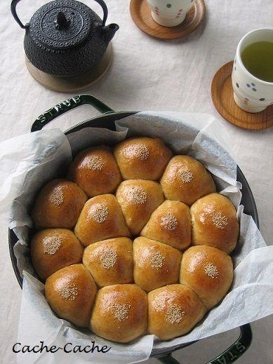 staubブレイザーで 黒糖&きなこの ちぎりあんパン♪ by カシュカシュ ...