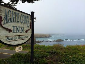 Agate Cove Inn, Mendocino, California. Such a cute and quaint place to stay. (Our motorcycle trip down the Pacific Coast Highway 1 from Vancouver on my Triumph Bonneville t100)