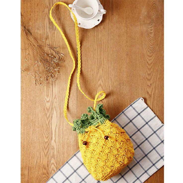 Barato Creative presente da fruta do abacaxi tecido bolsa de ombro do saco das mulheres, Compro Qualidade B… | Bolsa de ombro, Bolsas de crochê, Presentes criativos