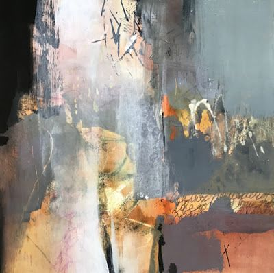 """Joan Fullerton Paintings: Contemporary Abstract Landscape Painting """"Invitation to Imagine"""" by Intuitive Artist Joan Fullerton"""