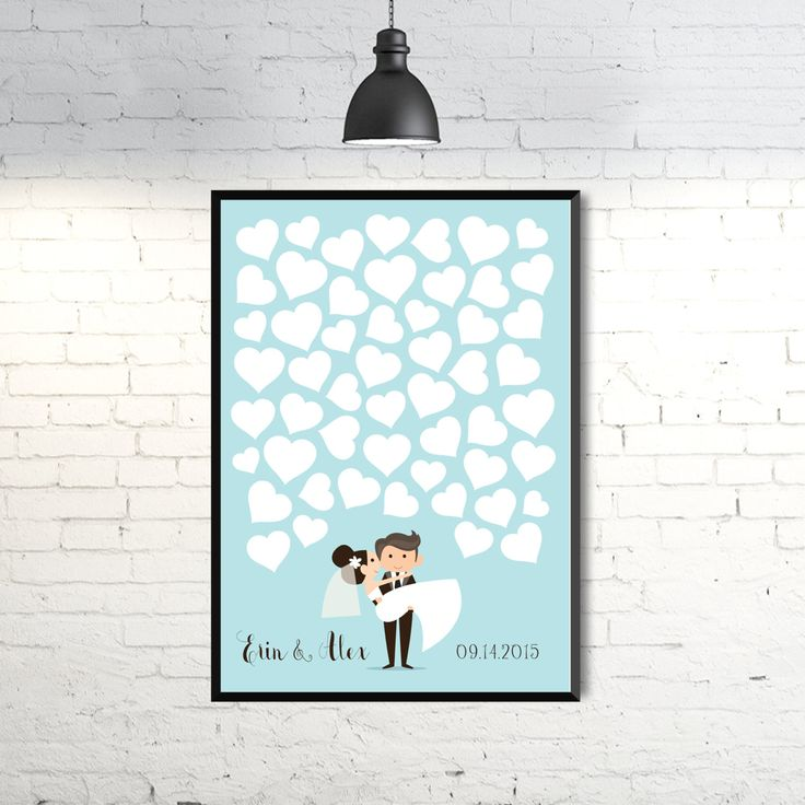 Wedding guest book poster. Personalized wedding guest book tree art print design. Alternative guest book. Digital file. Size A3. by GraphicCorner on Etsy