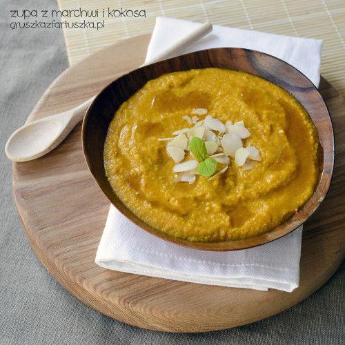 zupa z marchwi i kokosa - gruszka z fartuszka