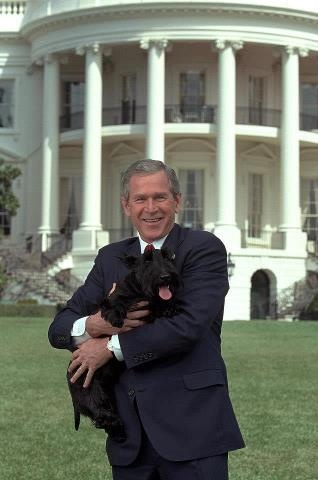 President George Bush and Barney ,   R.I.P. Barney.......................................  Photo : K9 Commando
