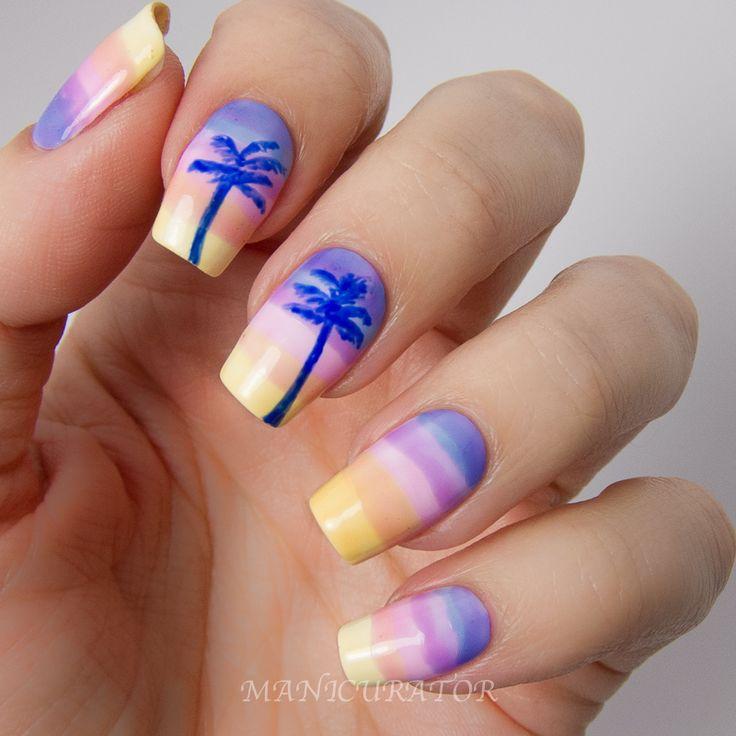 Holiday Acrylic Nails Designs: Summer Holiday Acrylic Nails