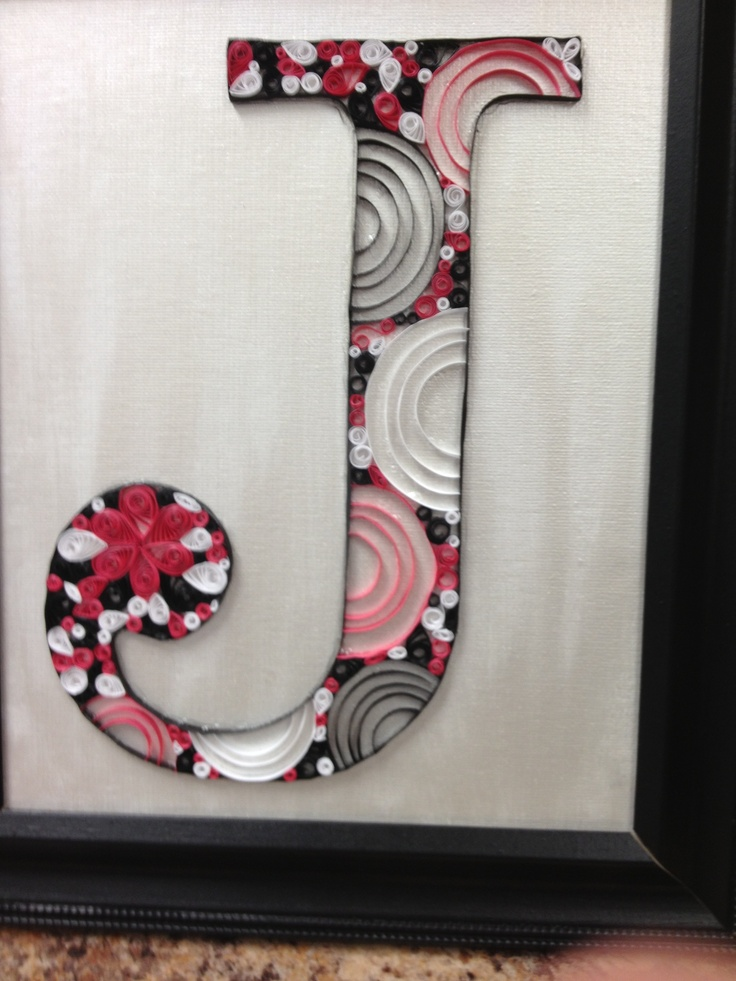 fe54665aba4b937f01b623f99cee1424 Quilling Letter J Template on