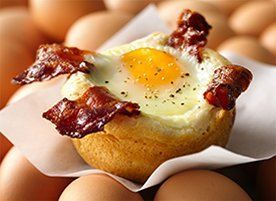 Bacon and Egg Savory Cupcakes | Recipe