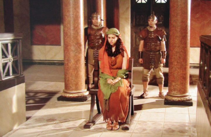 Rosa Hoskins as The Slave-girl from Jerusalem on trial in the Roman Mysteries TV…