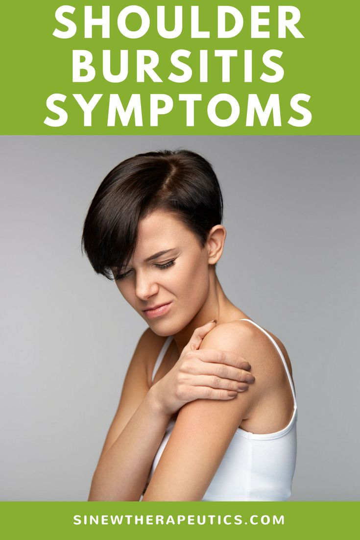 Localized pain, swelling, tenderness to the touch, warmth to the touch, and redness are common symptoms of shoulder bursitis. Learn more about shoulder bursitis symptoms, causes and treatment.