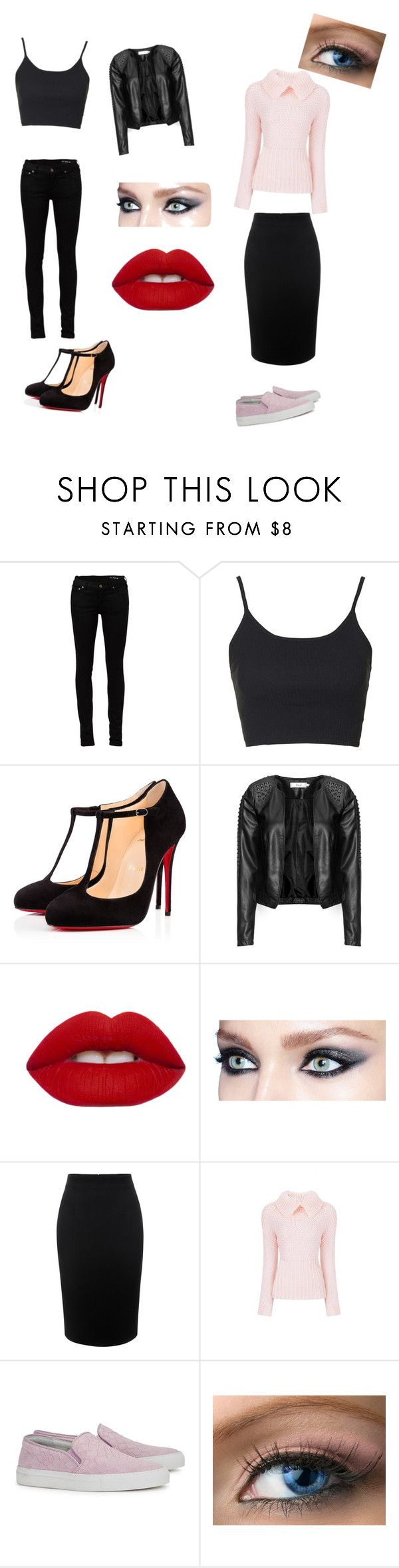 """""""Greasers and socs"""" by alexis-makenzie-liscio on Polyvore featuring Yves Saint Laurent, Topshop, Christian Louboutin, Zizzi, Lime Crime, Alexander McQueen and Axel Arigato"""