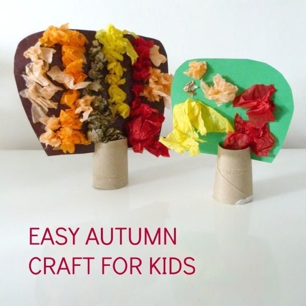Gorgeous and easy autumn craft for kids.