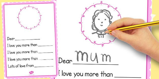 How cute is this worksheet? I Love You More Than. - twinkl