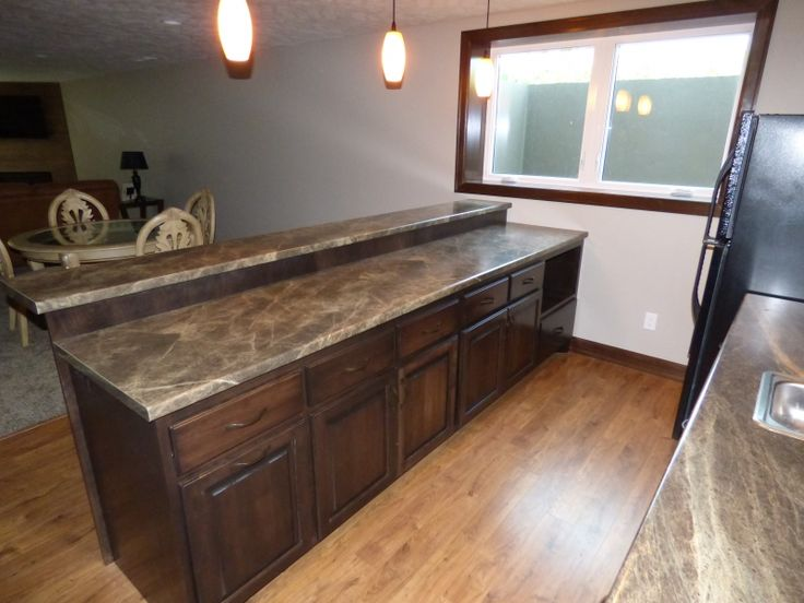 """Formica 180fx laminate """"Slate Sequoia"""" was used for this"""