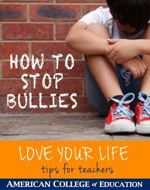 HOW TO STOP BULLIES for Teachers