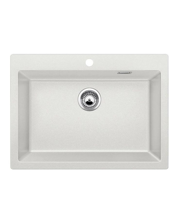 Sink Pleon 8 White A sink with a large trough that will allow you to easily wash in larger utensils such as a pan. It is combined with many accessories which will further facilitate your work.