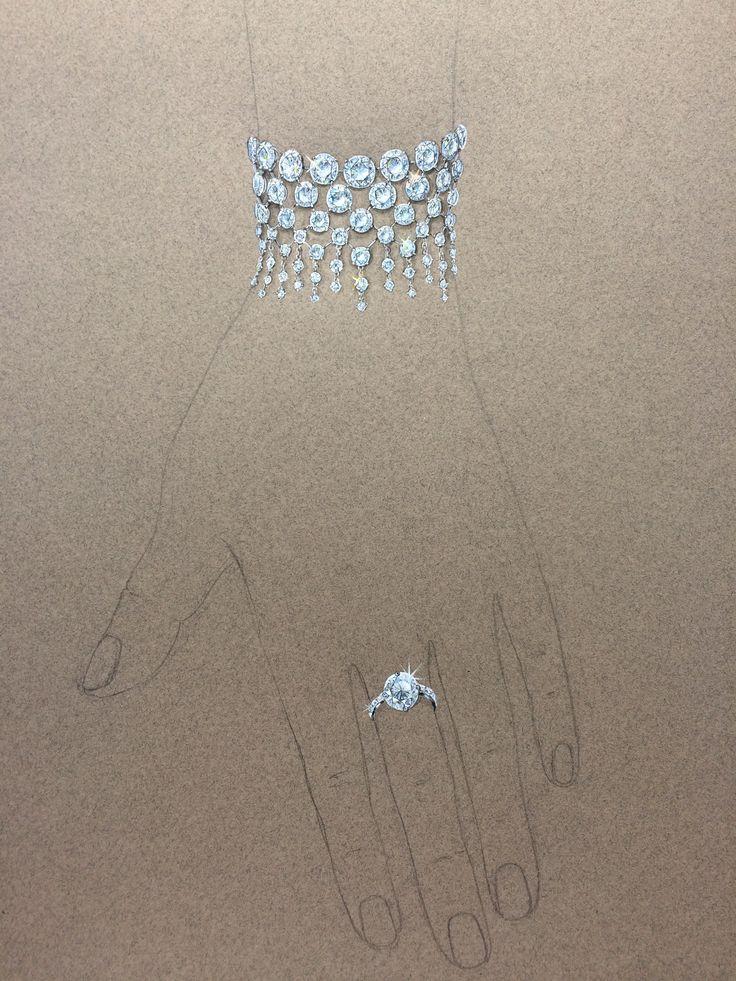 "very ""humble"" diamond bracelet ) Jewelry drawing"