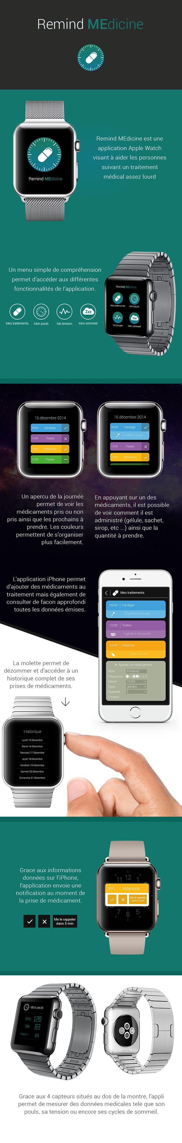 Although I don't read french the idea behind this is pretty self-explanatory. I like that this is a program that reminds users to take their medicine. Many people fail to take their medicine  when needed so something like this would be extremely useful. It also has a mobile version as well! You can set the time and each medication individually which would be
