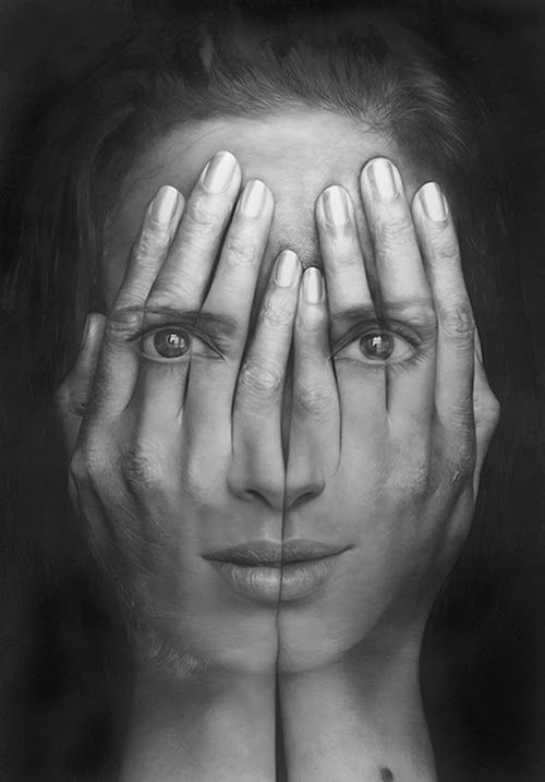 Painted Hands Face