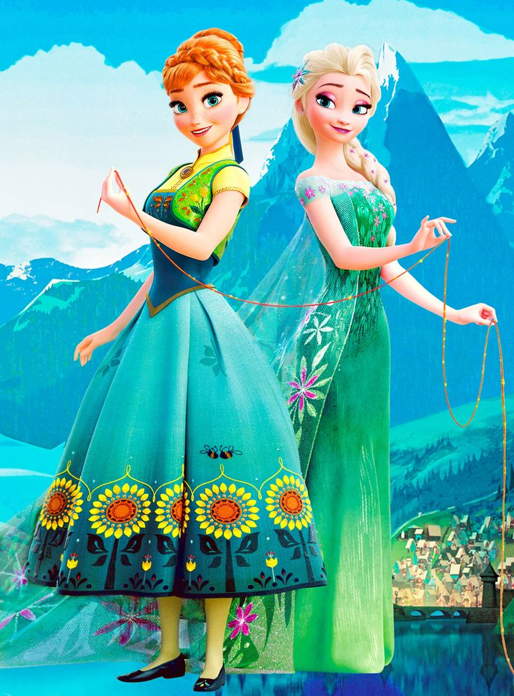 Anna and Elsa in Frozen Fever