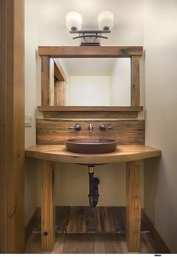 repurposed barn wood furniture rustic bathroom vanities and sink consoles - Painted Wood Bathroom Interior
