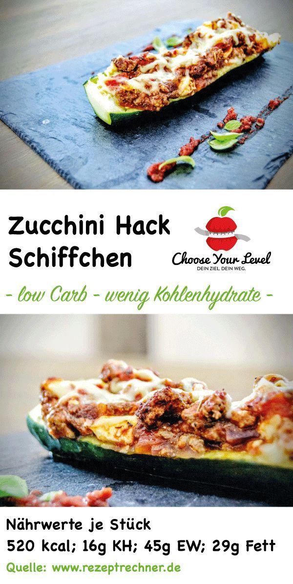 Gefüllte Zucchini Hackfleisch Stangen
