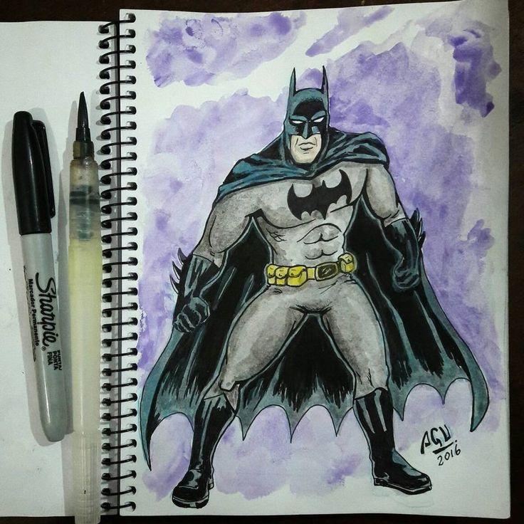 Batman - acuarela  by Agucho76