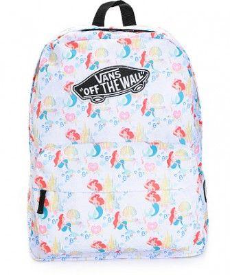 Plecak Vans - Disney - Disney, disney the little mermaid, myszka miki, plecak dla dziewczyny, plecak vans, vans - TRENDmag.pl - najnowsze trendy