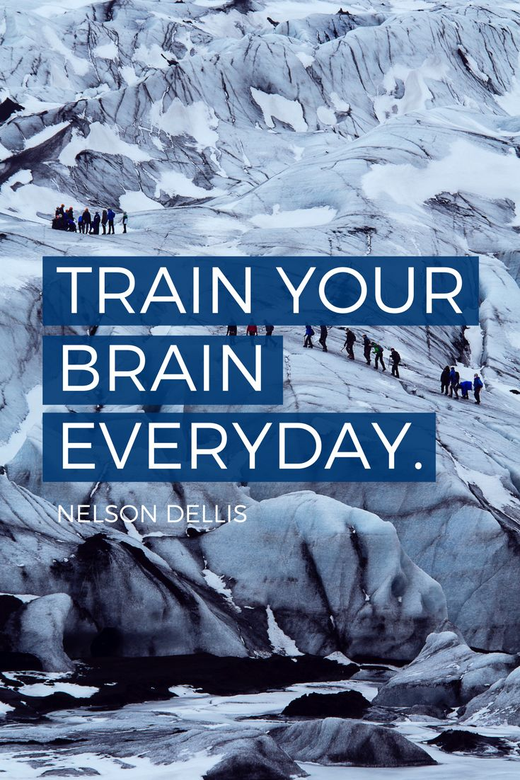 """""""Train your brain everyday."""" - USA Memory Champion Nelson Dellis on the School of Greatness podcast"""