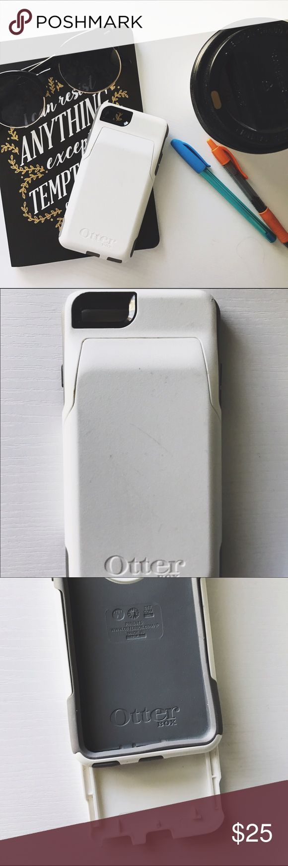 Otter Box Wallet Case | iPhone 6 White and Grey super protective wallet case for iPhone 6/6S. Mild scratches on back of the case. OtterBox Accessories Phone Cases