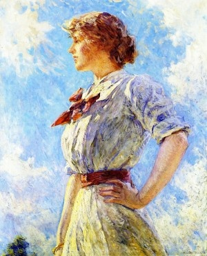 Oil Painting On Canvasagainst The Skyby Robert Lewis Reid