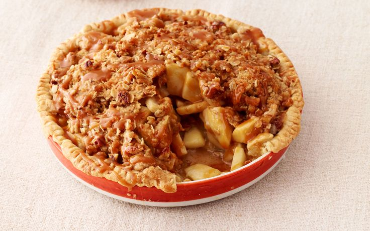 Caramel Apple Pie - Pioneer Woman style! Ooh, making my mouth water, just looking at this picture