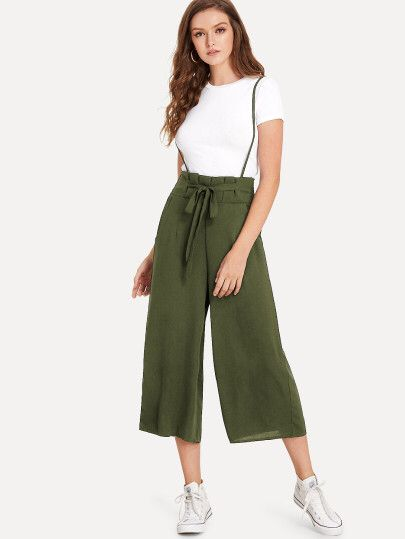 714d6e2d04 Knot Front Pleated Back Jumpsuit Only ₹1,120 | Shein in 2019 ...
