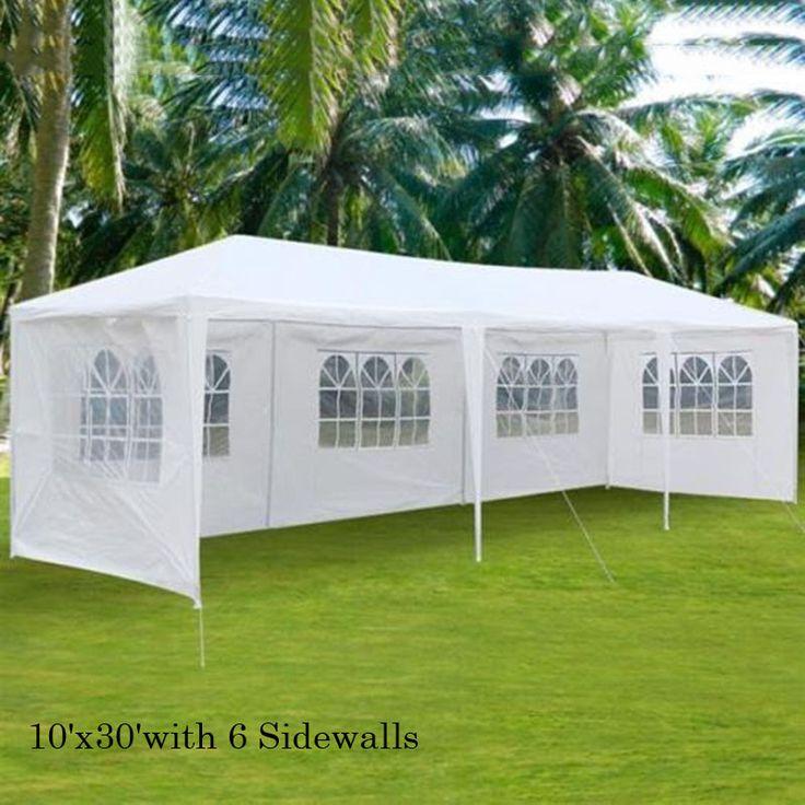 10'x30' 5 Windows Party Wedding Outdoor Patio Tent Canopy Heavy Duty Gazebo