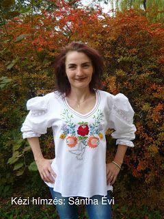 Háromszéki fafaragás: Kézi hímzések ruhákra