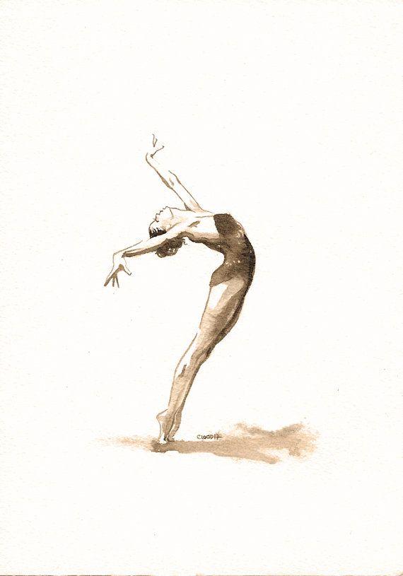 Cadeau original  Danseuse femme  cambré par PetitAtelierC100D17