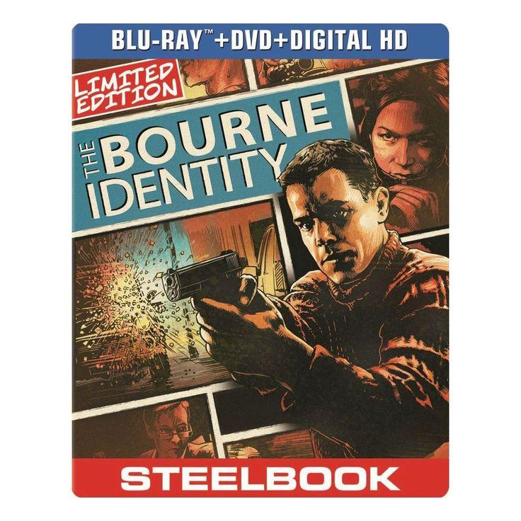 The Bourne Identity [2 Discs] [Includes Digital Copy] [UltraViolet] [SteelBook] [Blu-ray/DVD]