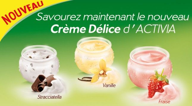 Danone Activia Creme Delice Yogurt Advertising Campaign